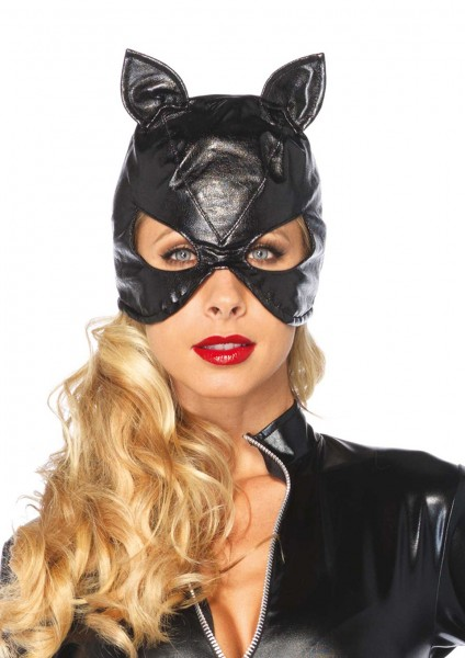 FAUX LEATHER MASK