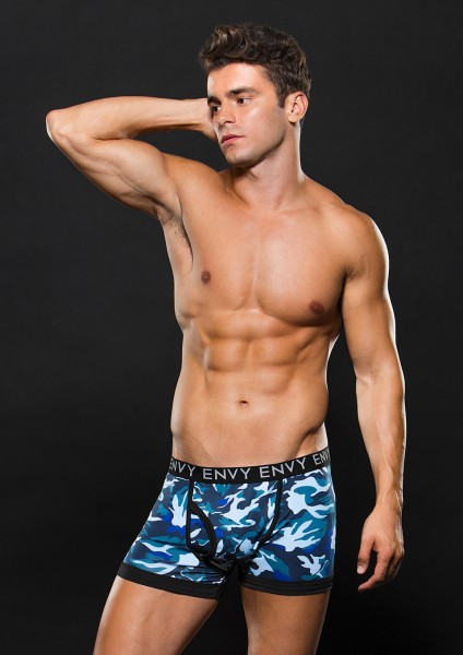 ELASTIC BOXER BRIEF M/L BLUE