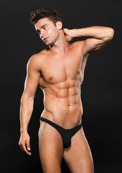 LOWRISE ZIP THONG L/XL BLACK