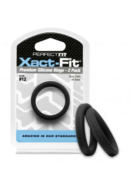 #12 Xact-Fit Cockring 2-Pack - Black