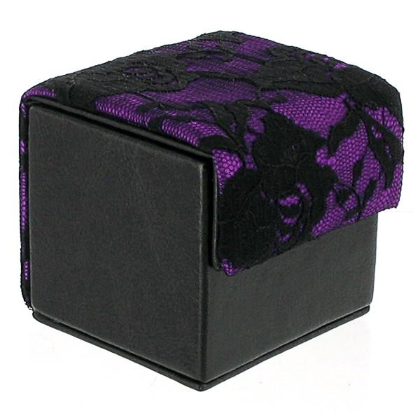 Devine Condom Cube Black & Purple Lace
