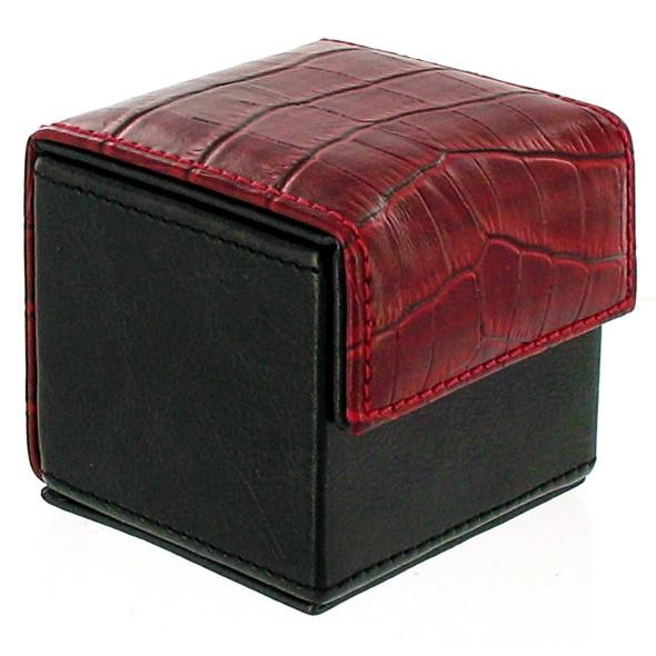 Devine Condom Cube Black & Red Croco