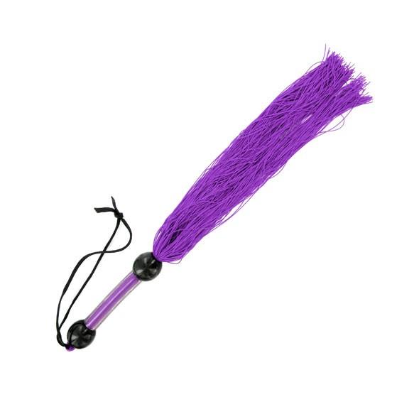 S&M   Medium Rubber Whip Purple