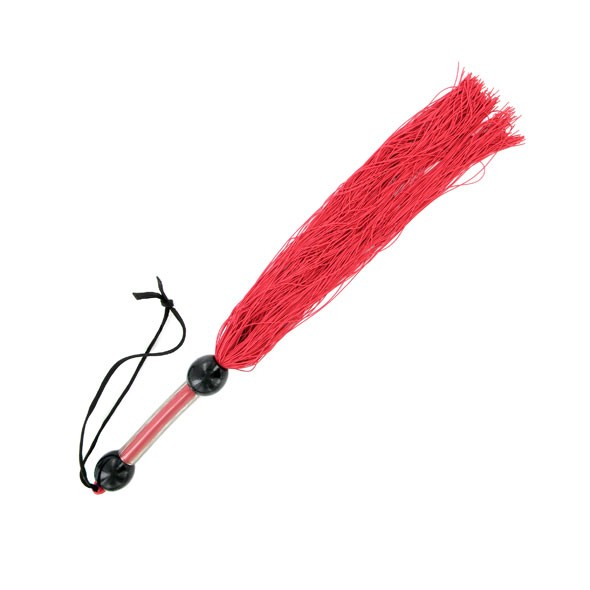 S&M   Medium Rubber Whip Red