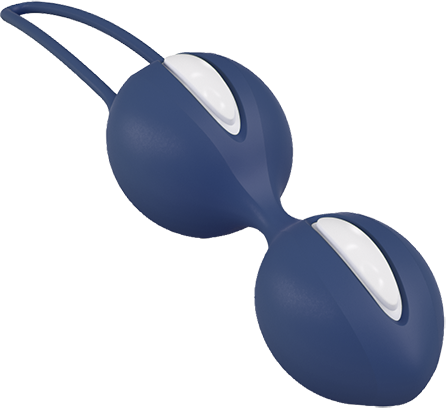 Fun Factory SMARTBALLS DUO White/Dark Blue - 2 Liebeskugel