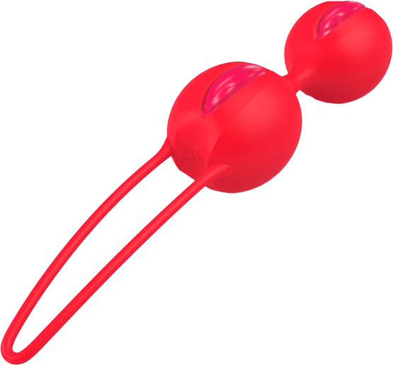 Fun Factory SMARTBALLS DUO Raspberry/Neon Orange - 2 Liebeskugel