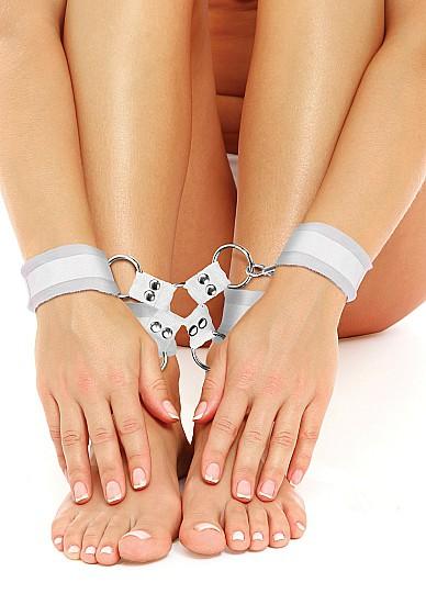 Velcro Hand And Leg Cuffs - White