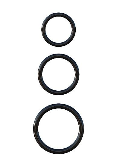 Silicone 3-Ring Stamina Set - Black