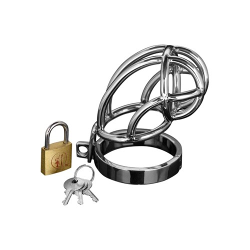 Produkt: Captus Stainless Steel Locking Chastity Cage